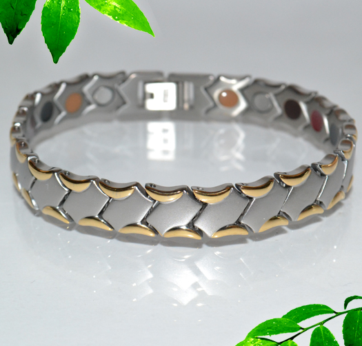 Мужской золотой браслет для часов N_27